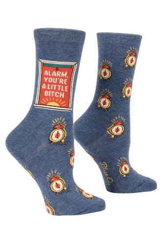 Blue Q Socks - Alarm Bitch
