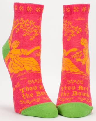 Blue Q Ankle Socks - Thou Art The Bomb