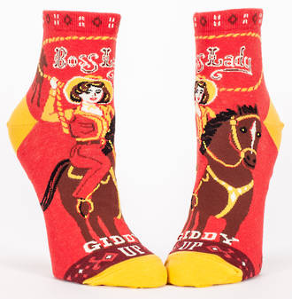 Blue Q Ankle Socks - Boss Lady