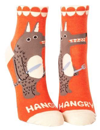 Blue Q Ankle Socks - Hangry