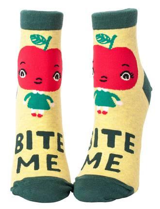 Blue Q Ankle Socks - Bite Me