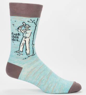 Blue Q Men's Socks - Fuck This Shit