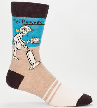Blue Q Men's Socks - Mr Perfect