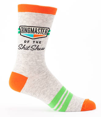 Blue Q Men's Socks - Ringmaster of the Shit Show