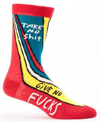 Blue Q Men's Socks - Take No Shit
