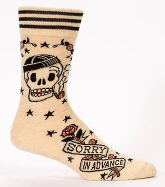 Blue Q Men's Socks - Sorry in Advance