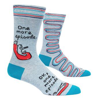 Blue Q Men's Socks - One More Episode