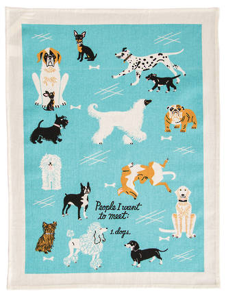 Blue Q Dish Towels - People To Meet: Dogs