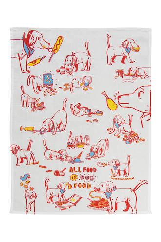 Blue Q Dish Towels - All Food Is Dog Food