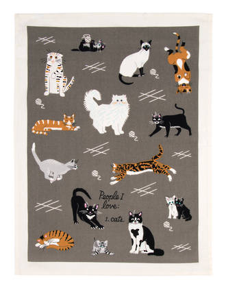 Blue Q Dish Towels - People I Love: Cats
