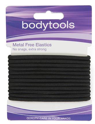 Metal Free Elastics Thick Black - Card 12