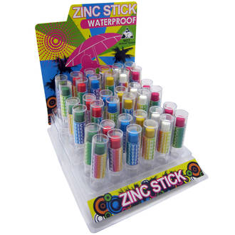 Coloured Zinc Sticks Display