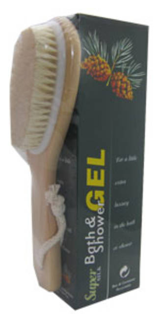 Bath Gel & Brush Set