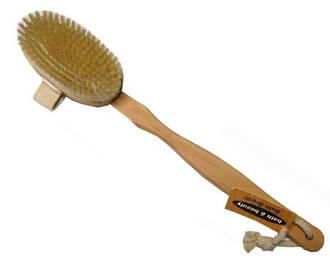 Long Handled Wooden Body Brush