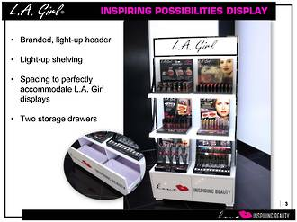 LA Girl Inspiring Possibilities Floor Display Stand