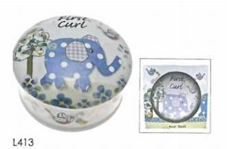 Blue Elephant First Curl Box
