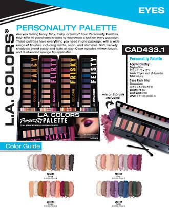 LA Colors - Personality Eyeshadow Palette Display - 48pcs