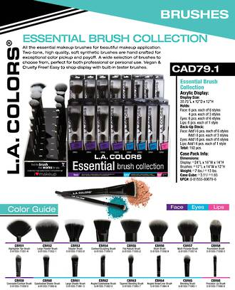 LA Colors - Brush Collection Display - 192pcs