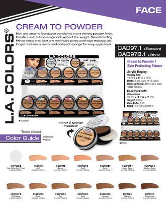LA Colors - Cream to Powder Primer Display - 108pcs