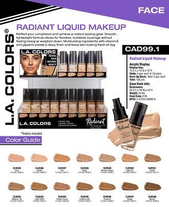 LA Colors - Radiant Liquid Foundation Display - 126pcs
