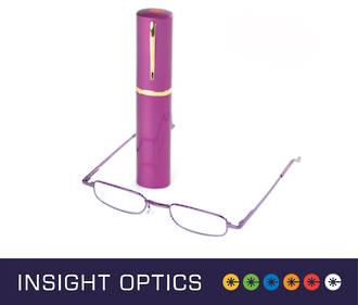 Insight Optics Tube Reading Glasses Unisex $19.95