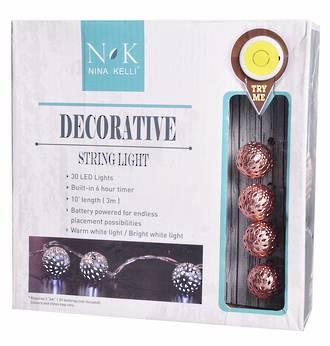 Decorative String Lights LED Novelty Balls Moroccan