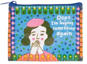 Blue Q Coin Purse - Oops, I'm Buying Something Again