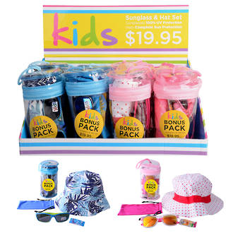 Aspect Kids Sunglass & Hat Display - 12pcs