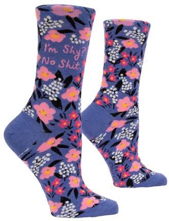 Blue Q Socks - I'm Shy? No Shit