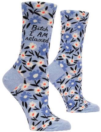 Blue Q Socks - Bitch I AM Relaxed