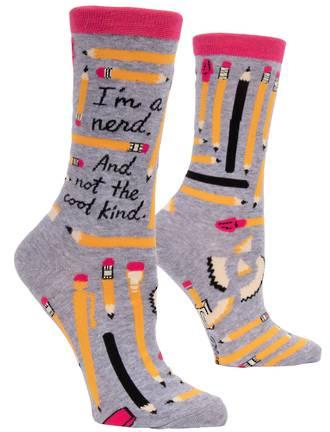 Blue Q Socks - I'm A Nerd