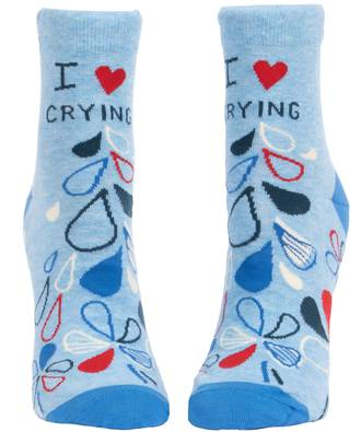 Blue Q Ankle Socks - I Heart Crying