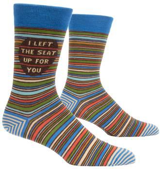 Blue Q Men's Socks - I Left The Seat Up