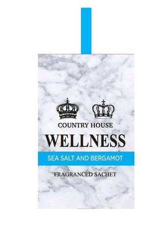 CH Fragrance Sachets Display of 12pcs - Sea Salt & Bergamot