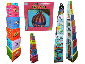 Aircraft Stack and Learn Puzzle