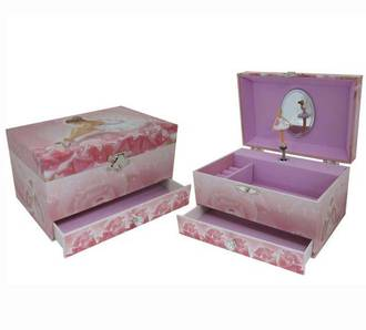 Musical Jewellery Box With Drawer Ballerina
