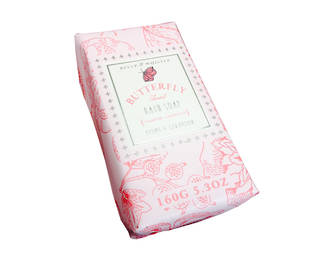 Belle & Whistle Butterfly Wrapped Soap 160g
