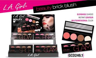LA Girl Beauty Brick Blush Display - 48pcs