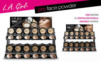 LA Girl Pro Face Powder Display - 144pcs