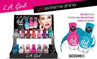 LA Girl Gel Extreme Shine Polish Display
