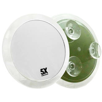 Suction Bathroom Mirror 230mm - Large