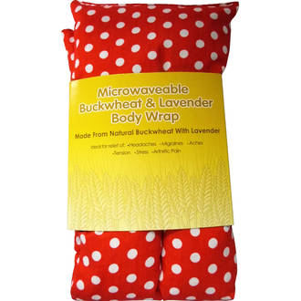 Rectangle Heat Pack - Red Polka Dot