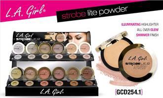 LA Girl Strobe Lite Powder Display