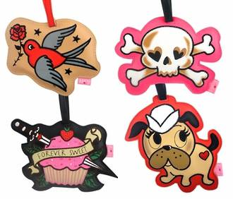 Fluff Luggage Tags - Tattoo (Pack 4)