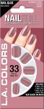 LA Colors 33pc High Gloss Short Nail Tip Kit - Romantic Rose