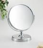 Mirror Silver Round On Stand 7x