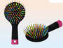 Rainbow Hairbrush Display - 12pcs
