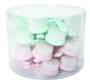 Facial Brush 14cm Green/Pink Display - 24pcs