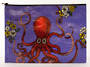 Jumbo Zipper Pouch - Octopus