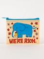Blue Q Coin Purse - We're Rich